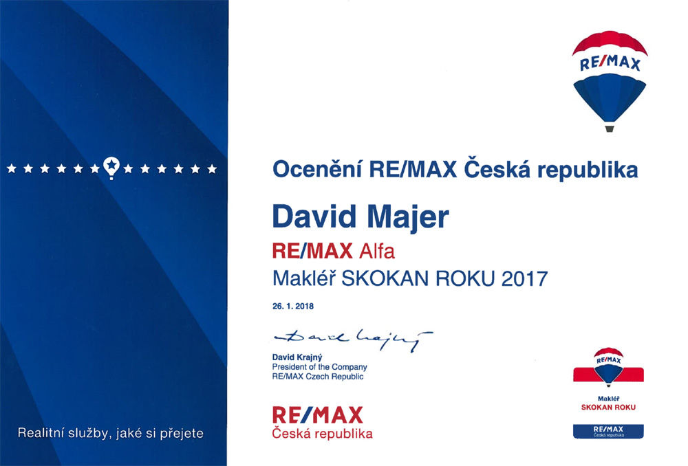 David Majer, skokan roku 2017 REMAX